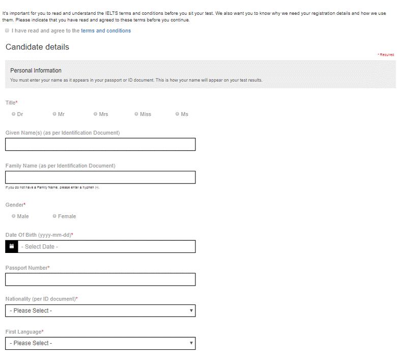 ثبت نام در آزمون آیلتس