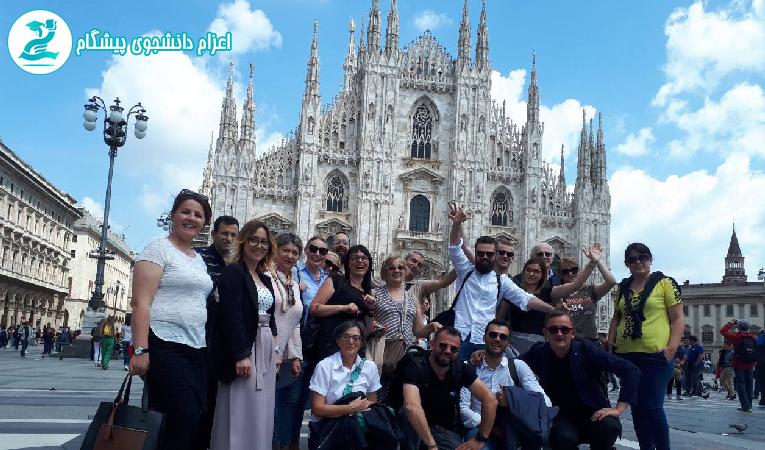 دانشجویان در میلان